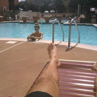 Photo taken at River Place Pool by Lukas Z. on 8/9/2015