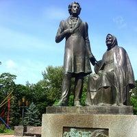 Photo taken at Памятник «Пушкин и крестьянка» by Максим К. on 7/23/2014