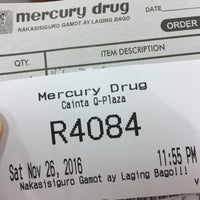 Photo taken at Mercury Drug by Marife L. on 11/26/2016