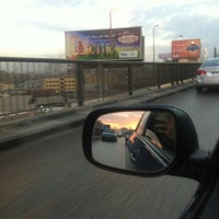 Photo taken at 6th October Bridge by Alhusseiny A. on 12/13/2012