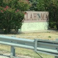 Photo taken at Oklahoma / Texas Border by Jesse H. on 7/6/2013