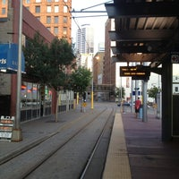 Photo taken at Warehouse District/Hennepin Ave LRT Station by Jesse H. on 7/22/2013