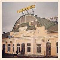 Photo taken at Бобруйск Пассажирский / Bobruysk Railway Station by Вячеслав Р. on 11/8/2012