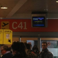 Photo taken at Gate C42 – T1 (MAD) by Maria K. on 4/1/2013