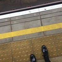 Photo taken at Greenwich DLR Station by Sofie F. on 10/19/2017