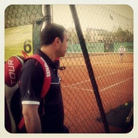 Photo taken at CUS Torino - Campi da Tennis by Michele V. on 4/17/2013