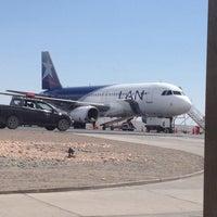 Photo taken at Aeropuerto El Loa (CJC) by Mario A. on 12/23/2012