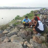 Photo taken at Pantai Marunda by Singgih S. on 4/27/2014