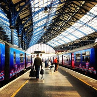 Photo taken at Brighton Railway Station (BTN) by Toula K. on 5/18/2013