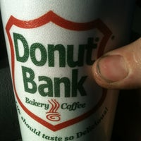 Photo taken at Donut Bank Bakery & Coffee Shop by WIll F. on 11/9/2012