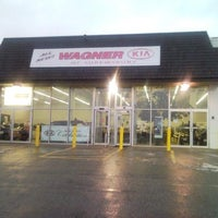 Photo taken at Wagner KIA of Shrewsbury by Jayson W. on 5/2/2013