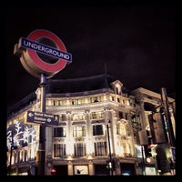 Photo taken at Oxford Circus London Underground Station by Nick M. on 11/22/2012