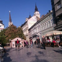 Photo taken at Pozorišni trg by Džegerka on 9/21/2012