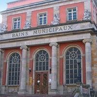 Photo taken at Bains Romains de Mulhouse by Loïc M. on 1/21/2014