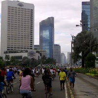 Photo taken at Jalan Jenderal Sudirman by Marsha A. on 3/10/2013