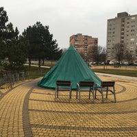 Photo taken at Palotaváros Központi Park by Gábor L. on 12/31/2017