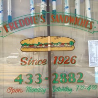 Photo taken at Freddie's Sandwiches by Aahana P. on 7/11/2013
