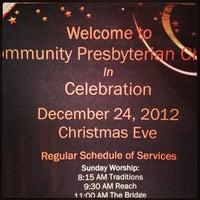 Photo taken at Community Presbyterian Church (COMPRES) by Cherish S. on 12/24/2012
