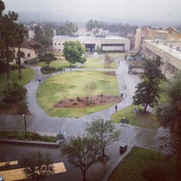 Photo taken at University Library - Cal Poly Pomona by Jane D. on 1/24/2013