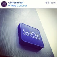 Photo taken at Wine Concept by Señaletik P. on 3/13/2014