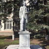 Photo taken at Памятник Ломоносову by Sergey D. on 3/5/2017