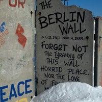 Photo taken at Berlin Wall by Carla J. on 2/10/2013