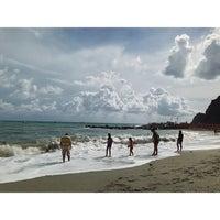 Photo taken at Spiaggia di Riomaggiore by Joshua C. on 9/11/2013