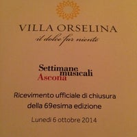 Photo taken at Villa Orselina by Benjamin F. on 10/6/2014