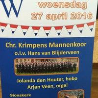 Photo taken at Sionskerk by Martijn V. on 4/27/2016