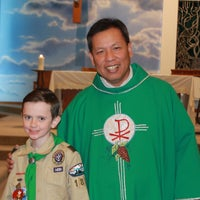 Photo taken at St. Joan of Arc Roman Catholic Church by Taryn D. on 2/15/2015