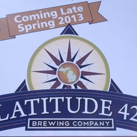 Photo taken at Latitude 42 Brewing Company by Andrew B. on 2/25/2013