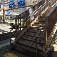 Photo taken at 大森海岸駅前歩道橋 by y m. on 6/1/2014