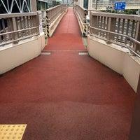 Photo taken at 大森海岸駅前歩道橋 by y m. on 10/1/2014