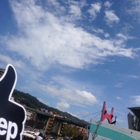 Photo taken at Red Bull Cliff Diving Bilbao by Borja on 9/26/2015