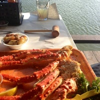 Photo taken at Rustic Inn Seafood Crabhouse by Alina N. on 2/12/2013