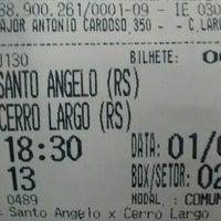 Photo taken at Estação Rodoviária de Santo Ângelo by Willian P. on 5/1/2016