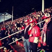 Photo taken at Bosuilstadion by Katrien K. on 11/4/2012