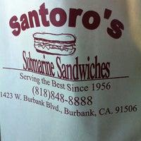 Photo taken at Santoro's Submarine Sandwiches by Lydia on 9/22/2013