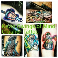 Photo taken at Mind Crusher Tattoo by Kevin O. on 9/24/2013