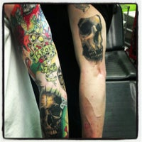Photo taken at Mind Crusher Tattoo by Kevin O. on 2/13/2013