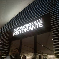Photo taken at Emporio Armani Ristorante by Aytac T. on 1/5/2013