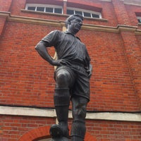 Photo taken at The Johnny Haynes Statue by Michael B. on 4/24/2013