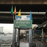 Photo taken at Sathorn (Taksin) Pier (CEN) by Warajan J. on 12/25/2012