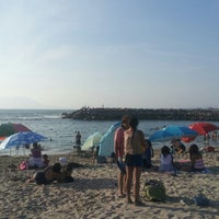 Photo taken at Playa Trocadero by Hugo E. on 2/28/2013