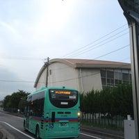 Photo taken at 草津東高校 バス停 by ゆる温泉ソムリエ C. on 7/7/2014