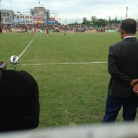 Photo taken at STADION BOLA PSSB by Andrie F. on 5/12/2013