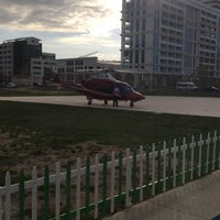 Photo taken at Helitaksi (Heliport) by Buket A. on 10/18/2016