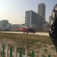 Photo taken at Helitaksi (Heliport) by Buket A. on 11/23/2016