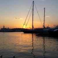 Photo taken at Flisvos Marina by Dimitris M. on 6/8/2013