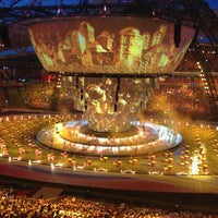 Photo taken at Kazan-Arena by Alexander T. on 7/6/2013